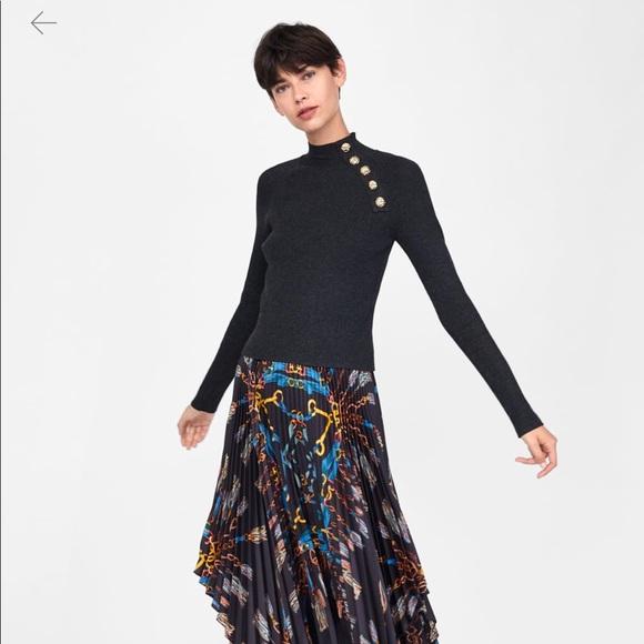 9c7c06dd Zara Sweaters | Buttoned Ribbed Sweater Nwt | Poshmark